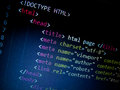 Html code in text editor Royalty Free Stock Photography
