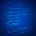 Html coding background illustration of on technology Royalty Free Stock Photos