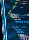 Html web code program on a monitor Royalty Free Stock Photography