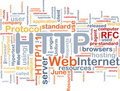 HTTP word cloud Royalty Free Stock Photo