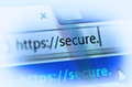 Https on computer screen Royalty Free Stock Photo
