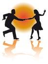 Huśtawkowy dancingowy couple wektor Zdjęcia Stock