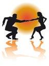 Huśtawkowy dancingowy couple wektor Obrazy Royalty Free