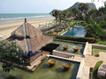 Hua Hin beach resort Stock Image