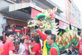 Hua hin thailand february thai people celebration chi chinese new year with a parade led by a dragon in Royalty Free Stock Image