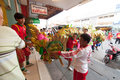 Hua hin thailand february thai people celebration chi chinese new year with a parade led by a dragon in Stock Photos