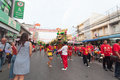 Hua hin thailand february thai people celebration chi chinese new year with a parade led by a dragon in Stock Photography