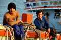 Hua Hin, Thailand: Two Thai Fishermen Royalty Free Stock Photo