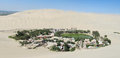 Huacachina Oasis in Ica city in Peru Royalty Free Stock Photo