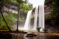 Huai luang waterfall phuchong nayoi national park ubon ratchathani Royalty Free Stock Photo