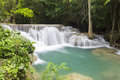 Huai mae khamin waterfall in kanchanaburi thailand Royalty Free Stock Photo