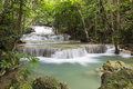 Huai mae khamin waterfall in kanchanaburi thailand Stock Images