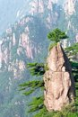 Huangshan mountain peak Stock Images