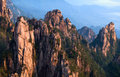 Huangshan mountain yellow mountain china of all the notable mountains in it is probably the most famous to be found in the Stock Photos