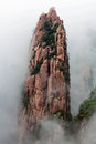 Huangshan mountain yellow mountain china lone rock in of all the notable mountains in it is probably the most famous to be Royalty Free Stock Image