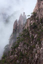 Huangshan mountain yellow mountain china xihai grand canyon in of all the notable mountains in it is probably the most Royalty Free Stock Image