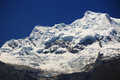 Huascaran Peak in Cordiliera Blanca Stock Photo