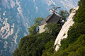 Huashan mountain china house in Royalty Free Stock Photography