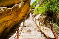 Huashan mountain huashan thousands of feet tall qiachichuang is one famous mountains in china it is located in shanxi province Stock Photography