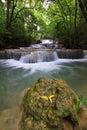 Huay mae ka min waterfall Royalty Free Stock Photo