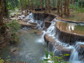 Huay Mae Kamin Waterfall Stock Photography