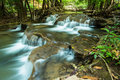 Huay mae kamin waterfall in jungle kanchanaburi thailand provice Royalty Free Stock Images