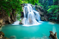 Huay Mae Kamin Waterfall in Kanchanaburi province, Thailand Royalty Free Stock Photo