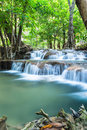 Huay mae khamin in forest waterfalls sri nakarin national park kanchanaburi province thailand Royalty Free Stock Images