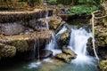 Huay mae khamin waterfall kanchanaburi thailand in province Royalty Free Stock Images