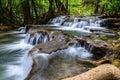 Huay mae khamin waterfall kanchanaburi thailand in province Royalty Free Stock Photography
