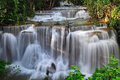 Huay mae khamin waterfall in thai national park sai yok national park kanchanaburi thailand Royalty Free Stock Photography