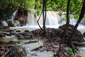 Huay mae khamin waterfalls in kanchanaburi thailand Stock Photo