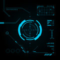 Hud and gui set futuristic user interface vector illustration for your design Royalty Free Stock Photography