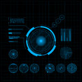 Hud and gui set futuristic user interface vector illustration for your design Stock Images