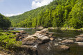 Hudson river gorge the as it flows through the the in the adirondacks mountains of upstate new york Stock Photo