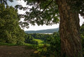 Hudson river scenic a beautiful view of the through trees and rolling hills Royalty Free Stock Image