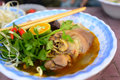 Hue beef noodle bun bo hue famous vietnamese food Royalty Free Stock Photography