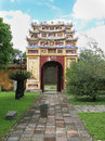 Hue inner door of the forbidden city in vietnam the citadel of the nguyen emperors where the forbidden city is located has been Royalty Free Stock Photo