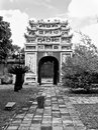 Hue inner door of the forbidden city in vietnam the citadel of the nguyen emperors where the forbidden city is located has been Royalty Free Stock Image