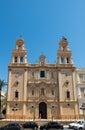 Huelva cathedral andalucia spain principal facade of santa iglesia catedral de la merced Stock Image