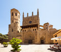 Huesca cathedral in sunny day aragon Stock Photography