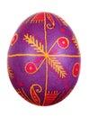 Huevo de Pascua pintado en estilo popular Fotos de archivo