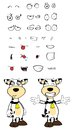 Hug cow cartoon expressions set in vector format very easy to edit Royalty Free Stock Photos