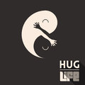 Hug life vector illustration with positive message Royalty Free Stock Photography