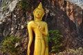 Huge Beautiful Golden Buddha Statue . Royalty Free Stock Photo