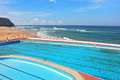 A huge beautiful pool on Atlantic coast Royalty Free Stock Photography