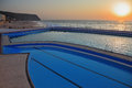 A huge beautiful pool on coast Royalty Free Stock Photos