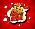 Huge blowout sale pop-art banner
