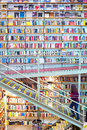 Huge bookstore. Lisbon, Portugal Royalty Free Stock Photo