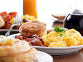 Huge breakfast Royalty Free Stock Photo